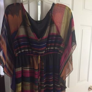 Rue 21 beachy striped dress or cover up-Clearance
